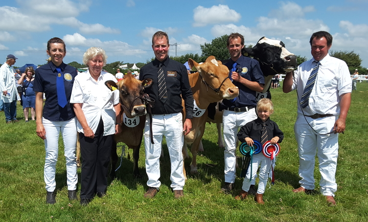 The Warren family with some of their award winning cows