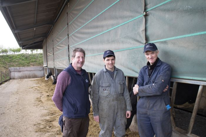 From left to right: Clive Slawson, James Royall and Christopher Royall