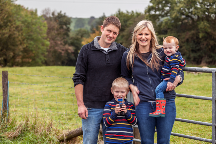 Chris and Amie Lovatt, with sons Henry and George
